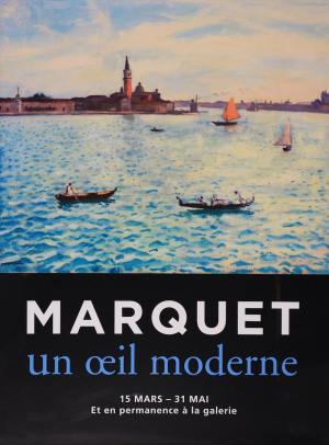 "Poster of the exhibition ""Marquet un œil moderne"", 2016 at Galerie de la Présidence"