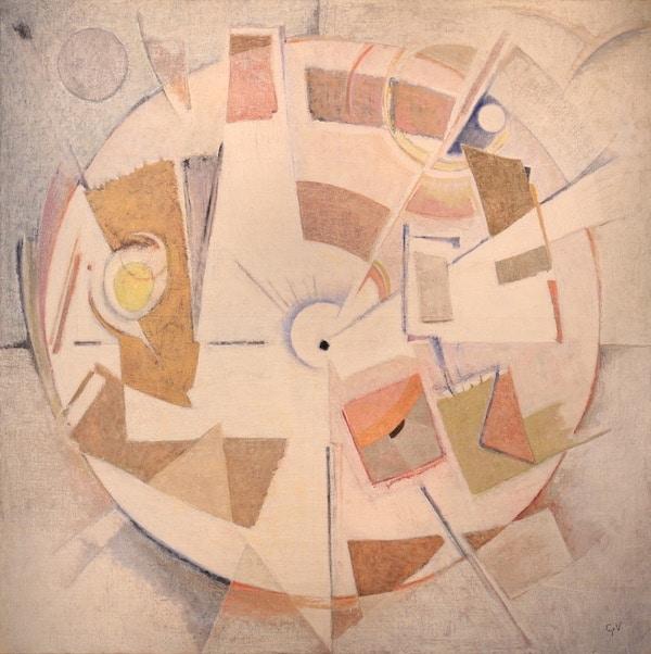 Geer van Velde Composition Circa 1950-60 Huile sur toile 162 x 162 cm