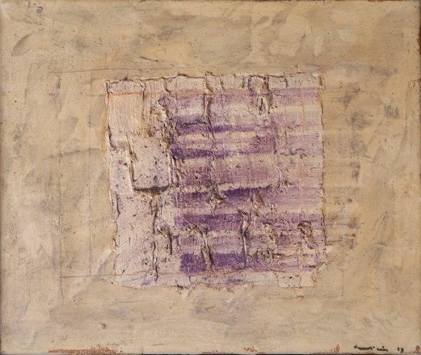 Jean Fautrier Variation sur un rectangle 1957 Oil on paper mounted on canvas, 38 x 46 cm