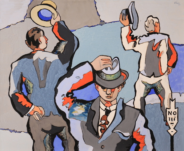 Jean Hélion Les salueurs 1945 Gouache on paper, 58 x 71 cm