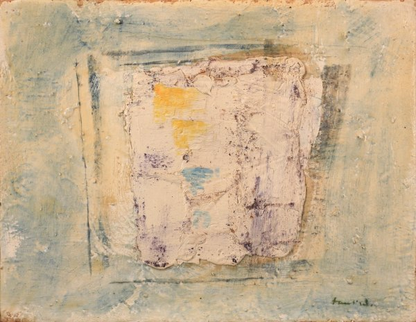 Jean Fautrier Composition 1958 Oil on paper mounted on canvas, 27 x 35 cm