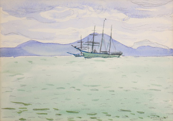 Albert MARQUET, La Goulette, 1926, watercolour , 17,5 x 25,4 cm