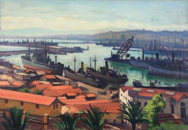 Albert Marquet, Les Quais du port de l'Agha, Circa 1942-43, Huile sur toile, 38 x 55 cm