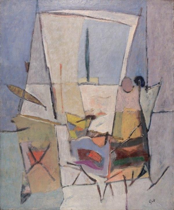 Œuvre de Geer Van Velde disponible à la Galerie de la Présidence, Composition, Circa 1946, Huile sur toile, 73 x 60 cm, Prix sur demande