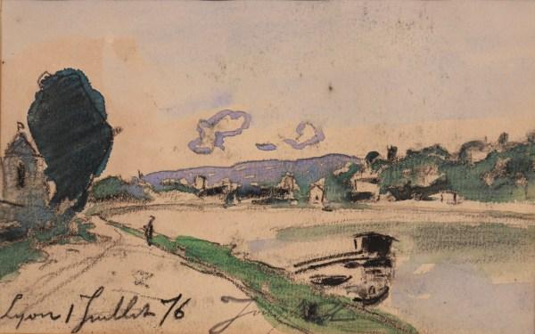 Johan-Barthold Jongkind, Les quais de Saône à Lyon, 1er juillet 1876