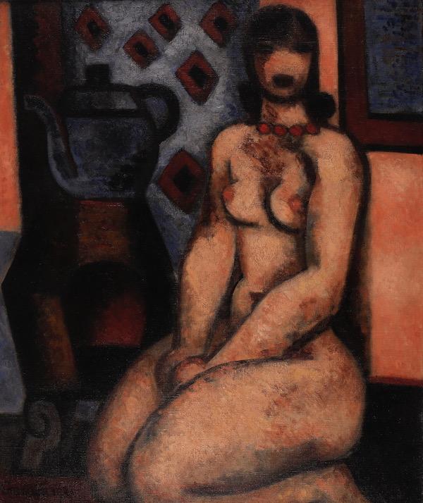 Marcel Gromaire Nu 1931 Huile sur toile 55 x 46,5 cm