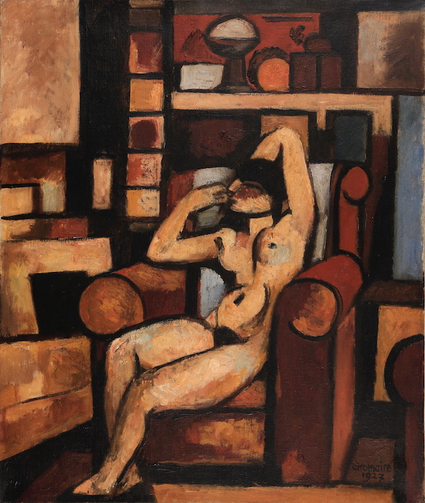 Marcel Gromaire Petit nu dans l'atelier 1927 Huile sur toile 55 x 46 cm