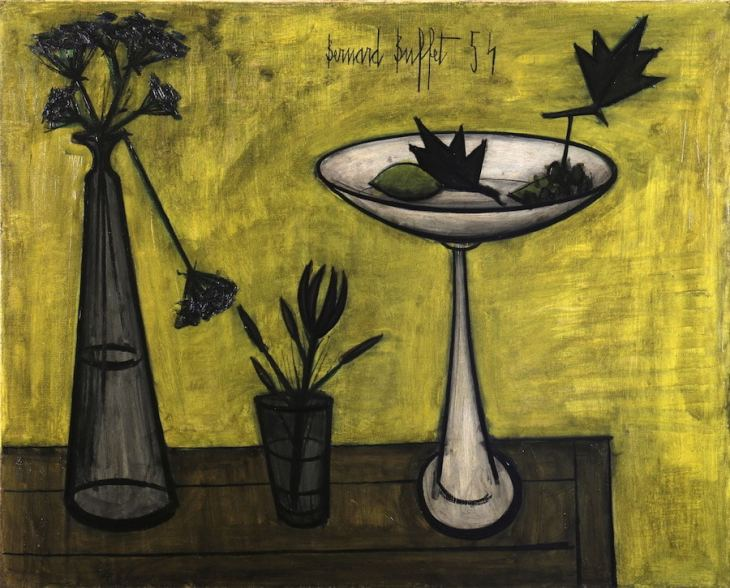 Bernard Buffet, Nature morte au compotier, 1954