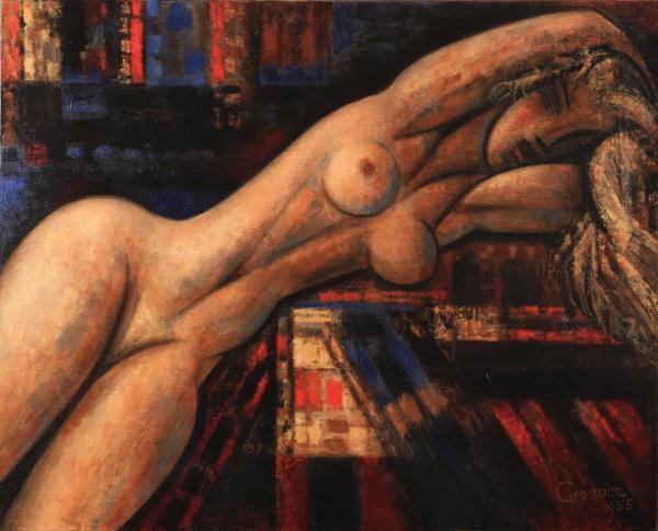 Marcel Gromaire, Nu blond allongé, 1955