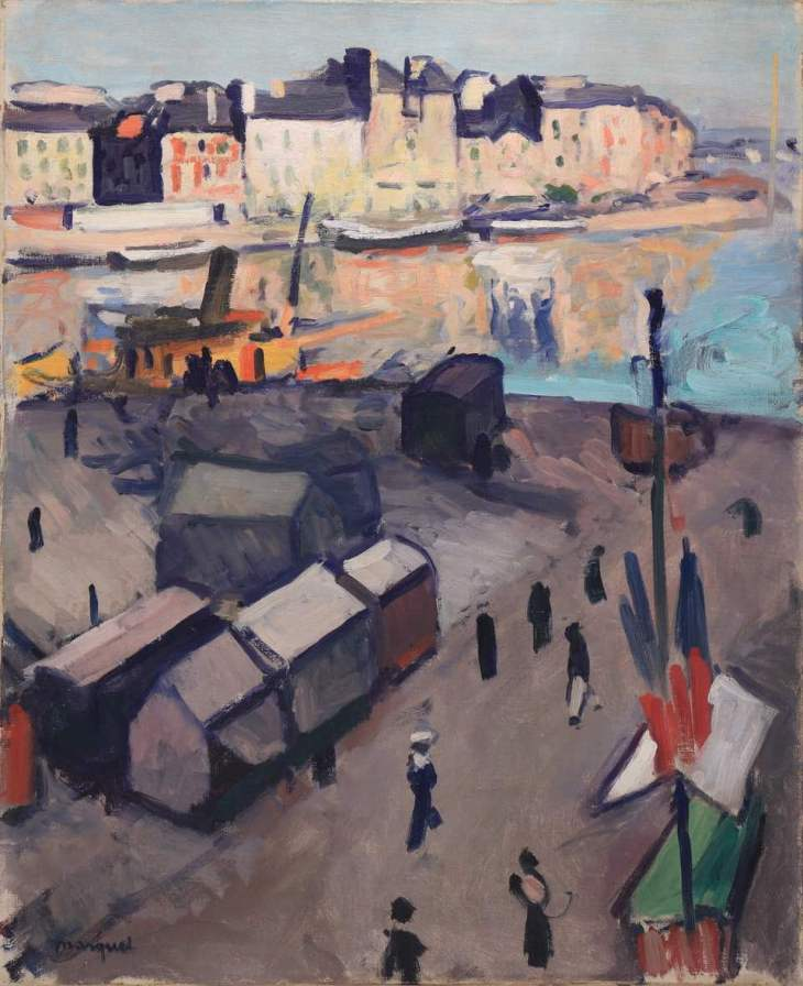 Albert MARQUET, Le Havre, le bassin, 1906