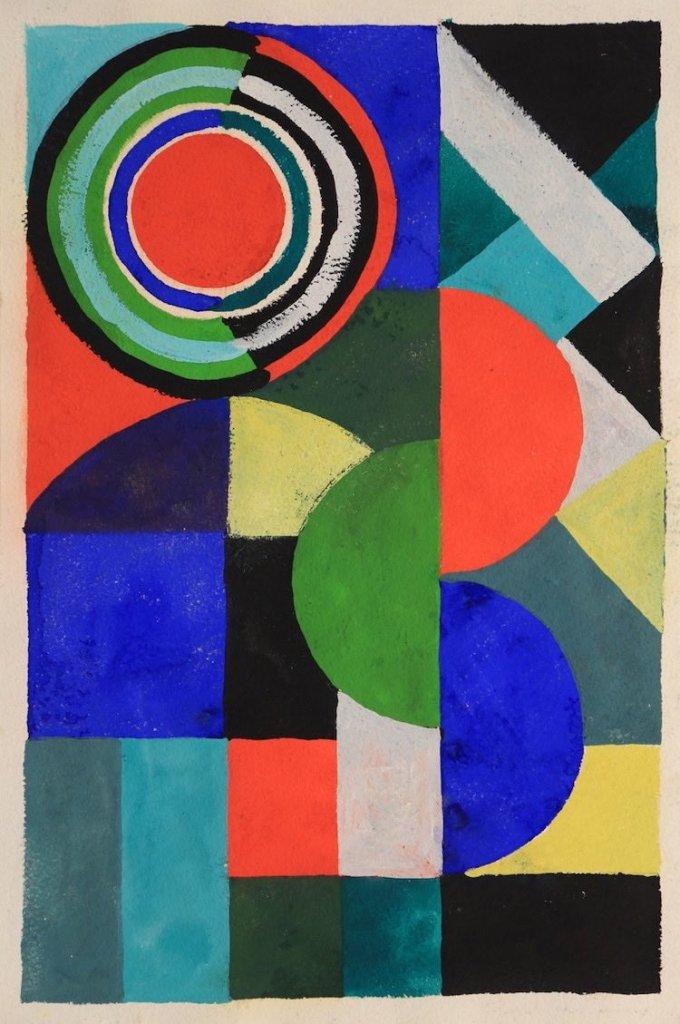 Sonia Delaunay, Rythme couleur, C.1970, gouache