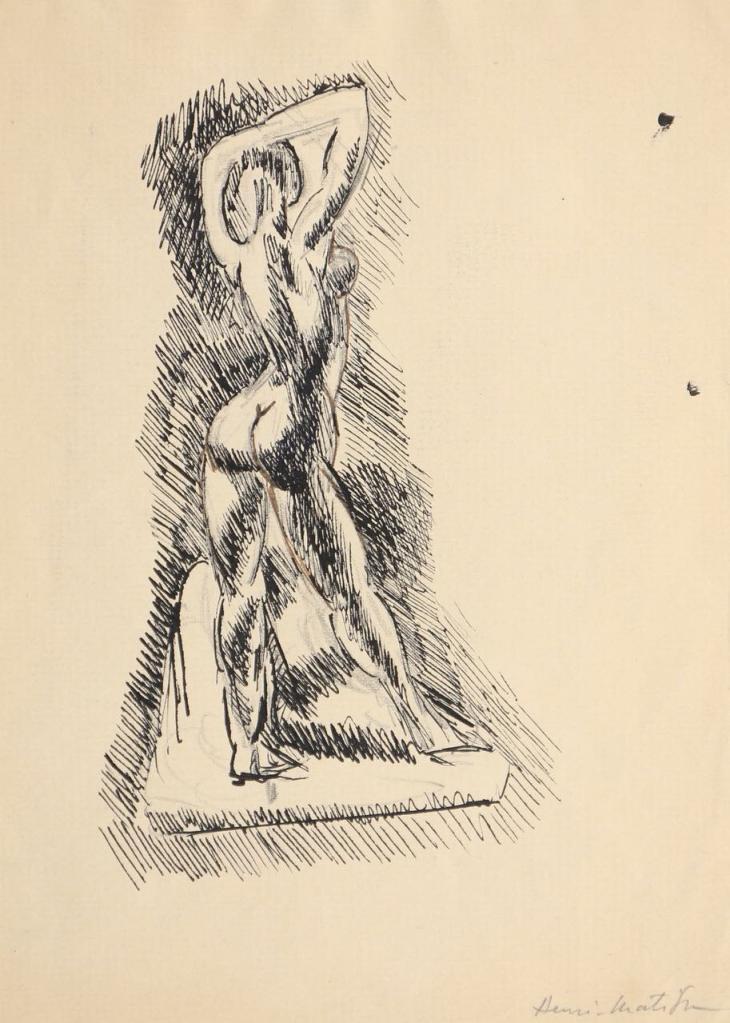 Henri Matisse, Femme nue, 1906, Encre, 22 x 17,5 cm