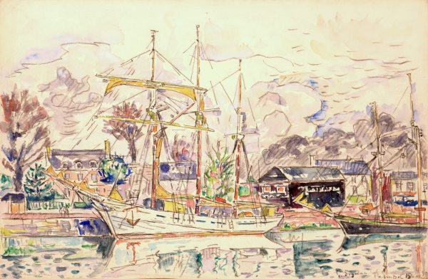 Paul SIGNAC, Paimpol, Watercolor