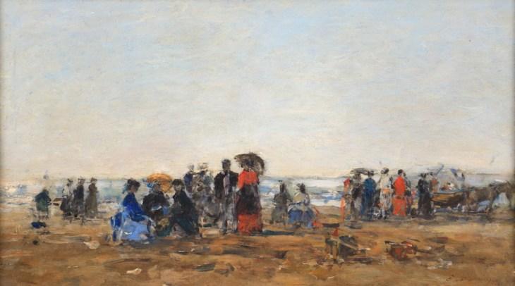 Eugène BOUDIN Scène de plage, 1869