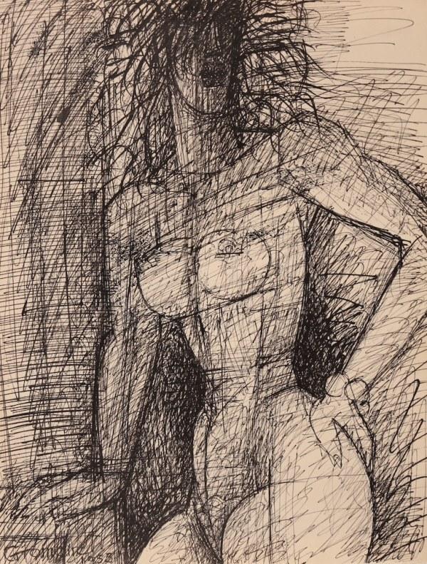 Marcel GROMAIRE, Femme nue debout, 1955
