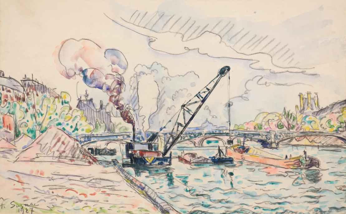 Paul Signac, Paris, le Pont des Saints-Pères, 1927