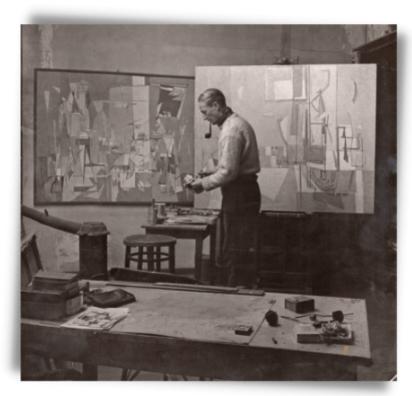 Geer van Velde dans son atelier