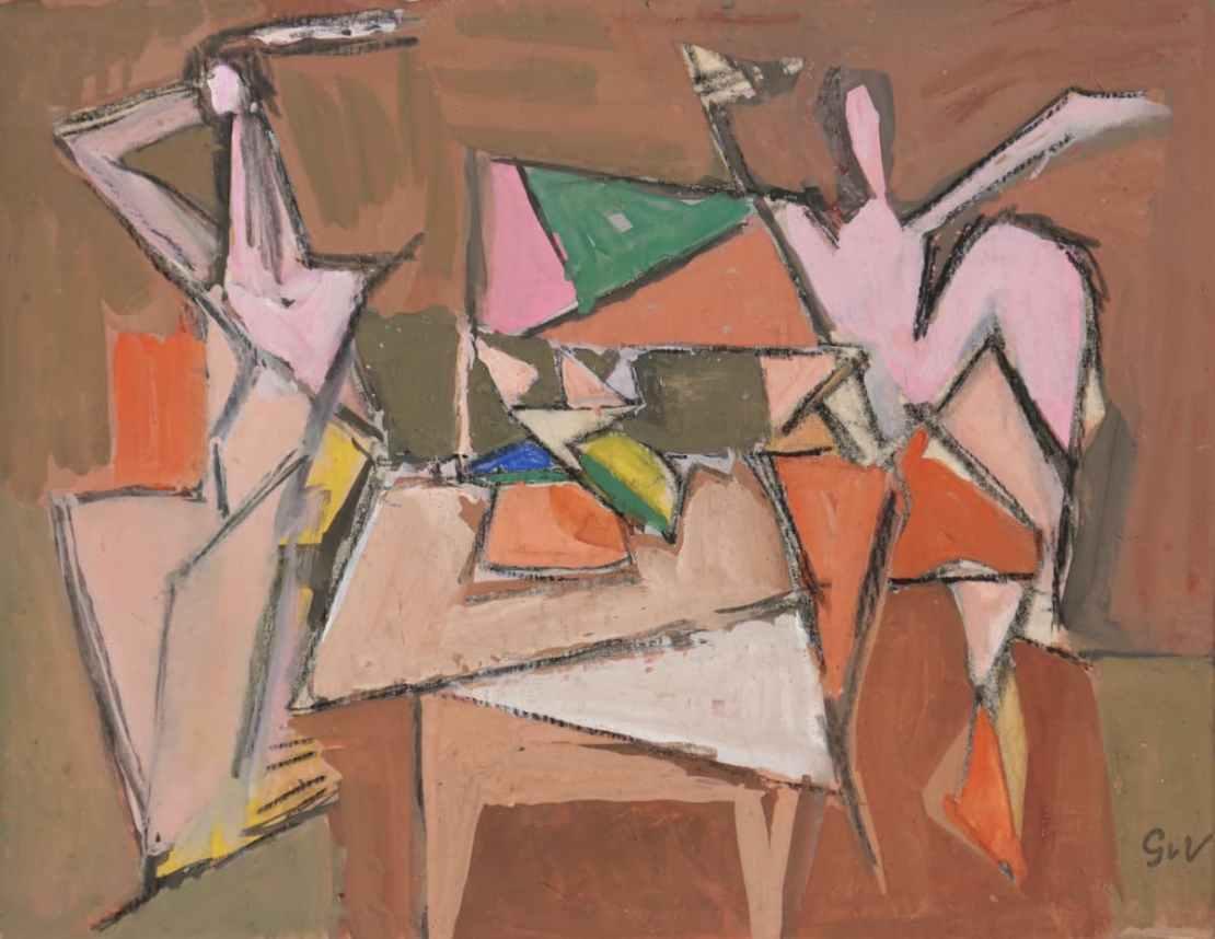 Geer van VELDE, Bacchanale, C.1944, gouache, 20,5 x 26 cm