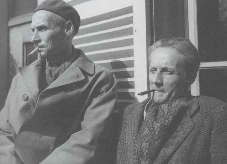 Bram and Geer van Velde at Cachan, 1948 Photo: Jo Bokma
