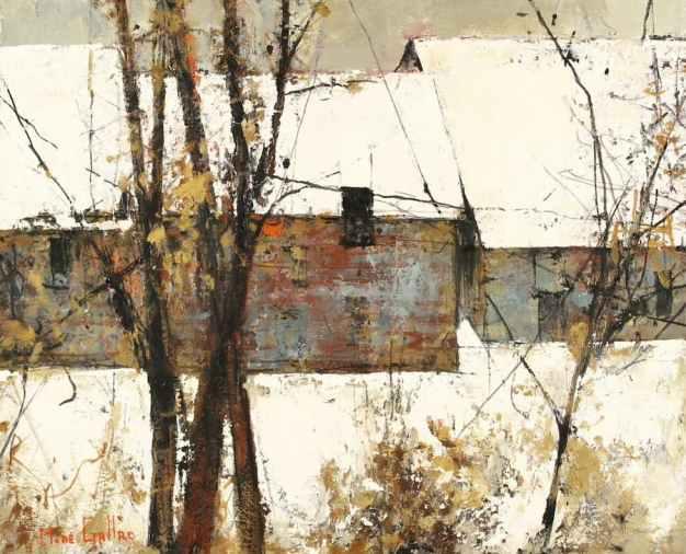 Michel de Gallard, Paysage de neige, Oil on canvas