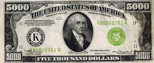 New 10000 Dollar Bill James Madison Biograph...