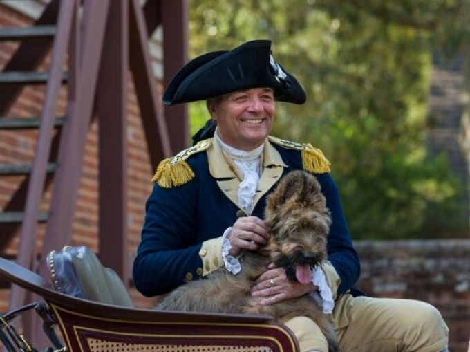 The mascot of Colonial Williamsburg is a Briard named Liberty.