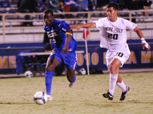 UCSB's Michael Tettehassisted Luis Silva for Wednesday night's only goal.