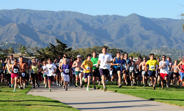 The 5k run at Nite Moves takes off at Shoreline Park providing runners ocean and mountain views.