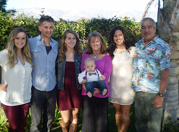 Leighty Family Affair -- Blair, Andrew, Ariel, Laurie holding grandson Landon, Sierra & Rob