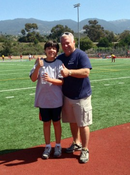Jerry with track athlete Ben Medina