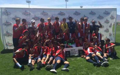 Padron's 4 goals rally SBSC U18s to Far West Regional title