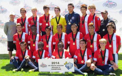 SBSC U16s win third straight Far West Regional title