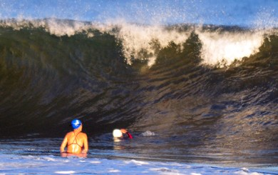 Big waves don't stop Nite Moves' ocean swim