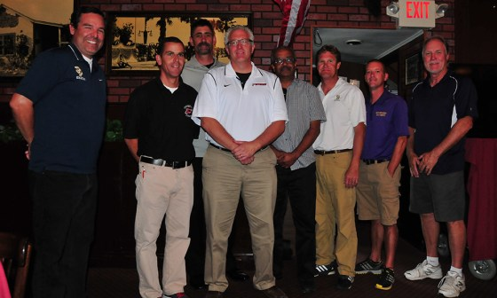 The athletic directors at the local high schools were honored with the Sports Person of the Month award at Monday's Round Table Luncheon.