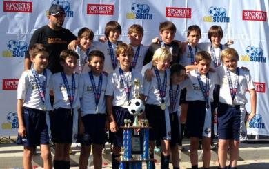 SBSC's U11 Blue wins State Cup title