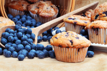 Blueberry-Muffins-with-Stevia