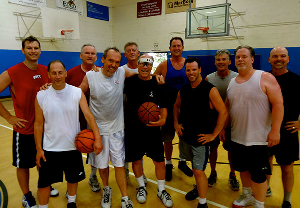 Steve Rehage and the basketball crew