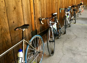 Bikes line up for Mary's Ride. (McTavish Courtesy Photo)