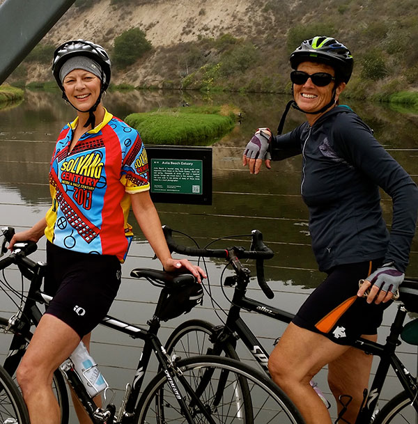 Mary McDonnel (left) enjoys the beauty of life with best friend, Lindsay McTavish.