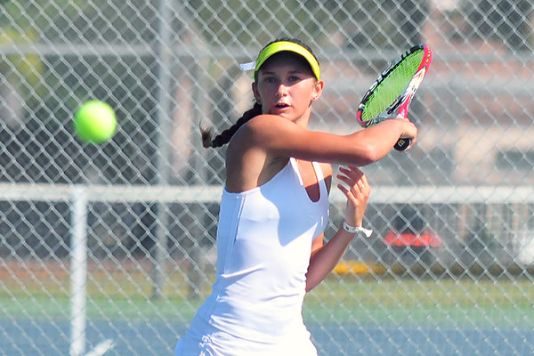 Santa Barbara High's Cade Sorensen reached the third round of the CIF Regional. (Presidio Sports Photo)