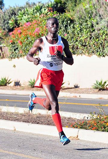 Moninda Marube became a two-time Santa Barbara Half-Marathon champion.