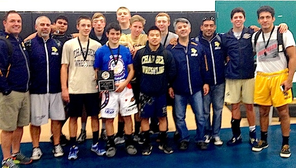 The Dos Pueblos wrestling team took second place at the Pete Duca Invitational
