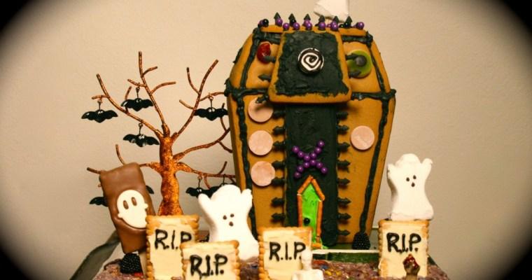 Halloween fun in a SPOOKY rice krispie treat graveyard!