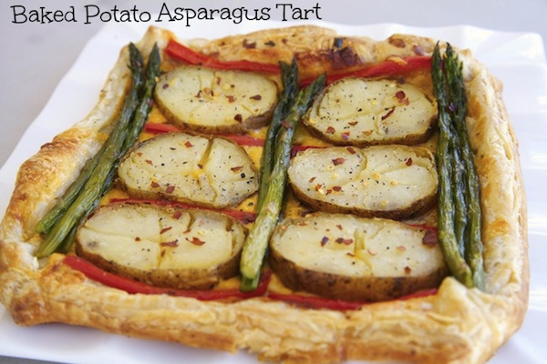 Baked Potato Asparagus Tart Video