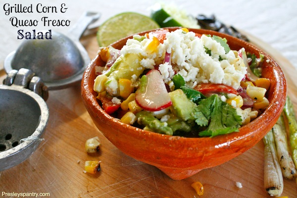 Grilled Corn And Queso Fresco Salad #VivaCADairy