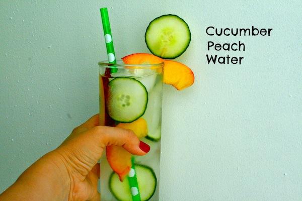 Cucumber Peach Water