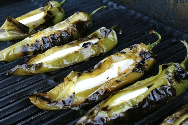 Uncle Albert's Grilled Chiles Stuffed With Cheese!