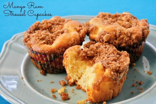 My Heart Belongs To Mango Rum Streusel Cupcakes