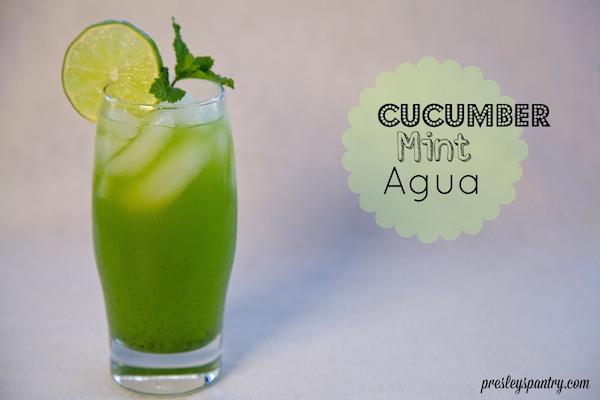 Agua De Pepino Y Yerba Buena: Cucumber Mint Water