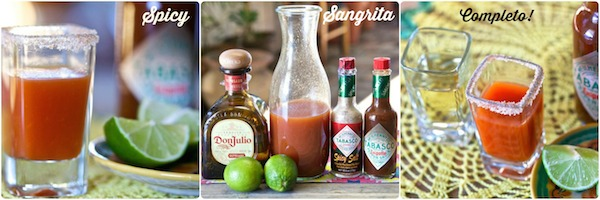 collage of spicy sangrita completo #TabascoTasteMakers